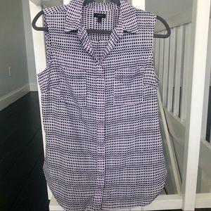 Talbots Sleeveless Collar Shirt